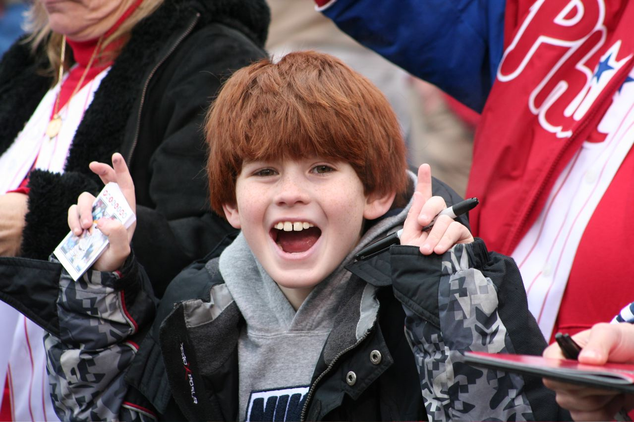 kid on opening day